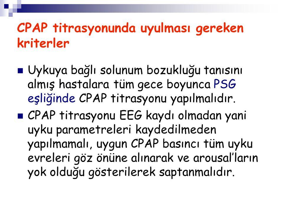 CPAP titrasyonunda uyulması gereken kriterler