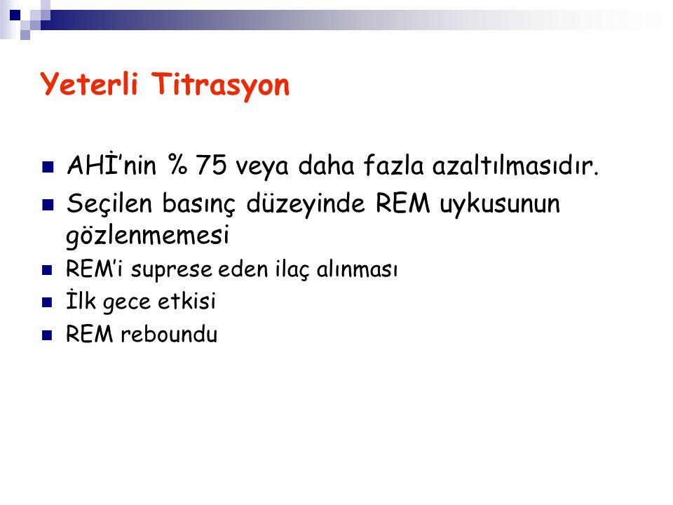 Yeterli Titrasyon AHİ'nin % 75 veya daha fazla azaltılmasıdır.