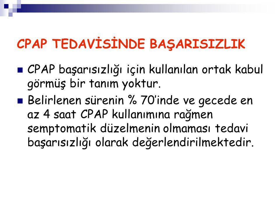 CPAP TEDAVİSİNDE BAŞARISIZLIK
