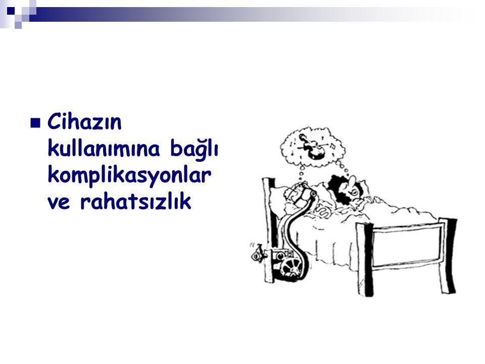 Cihazın kullanımına bağlı komplikasyonlar ve rahatsızlık