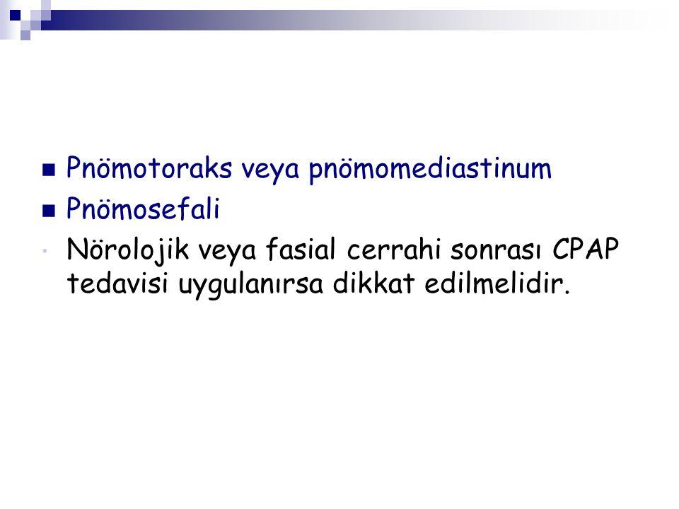 Pnömotoraks veya pnömomediastinum