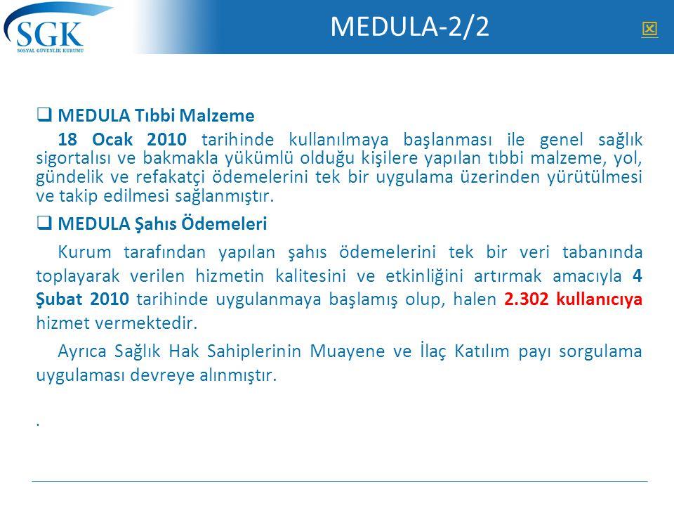 MEDULA-2/2 MEDULA Tıbbi Malzeme