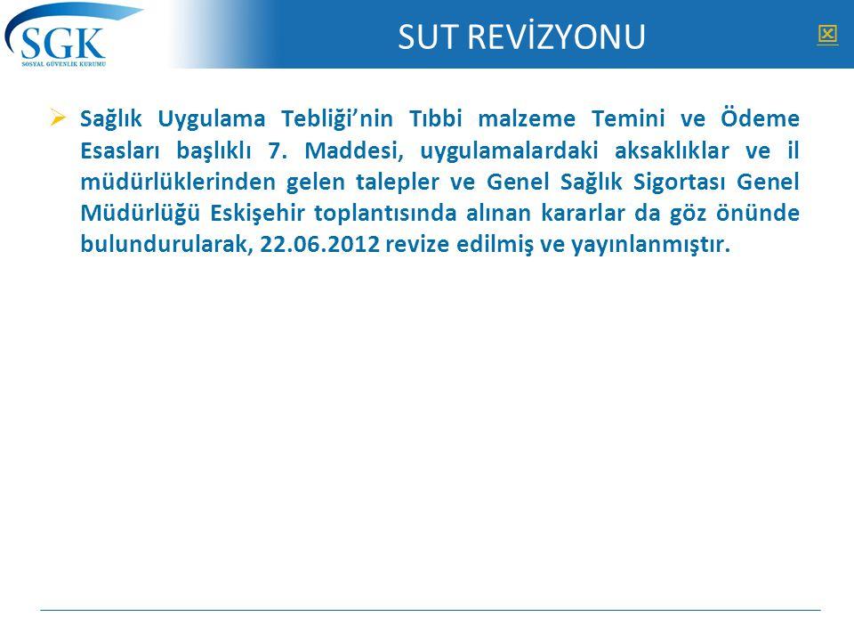 SUT REVİZYONU 