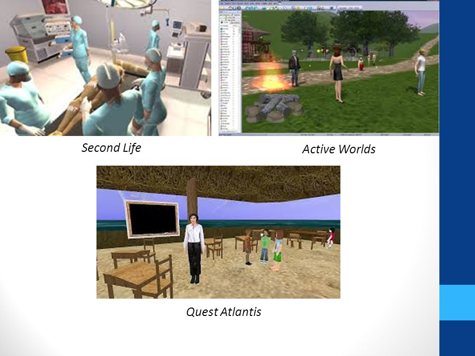 Second Life Active Worlds Quest Atlantis