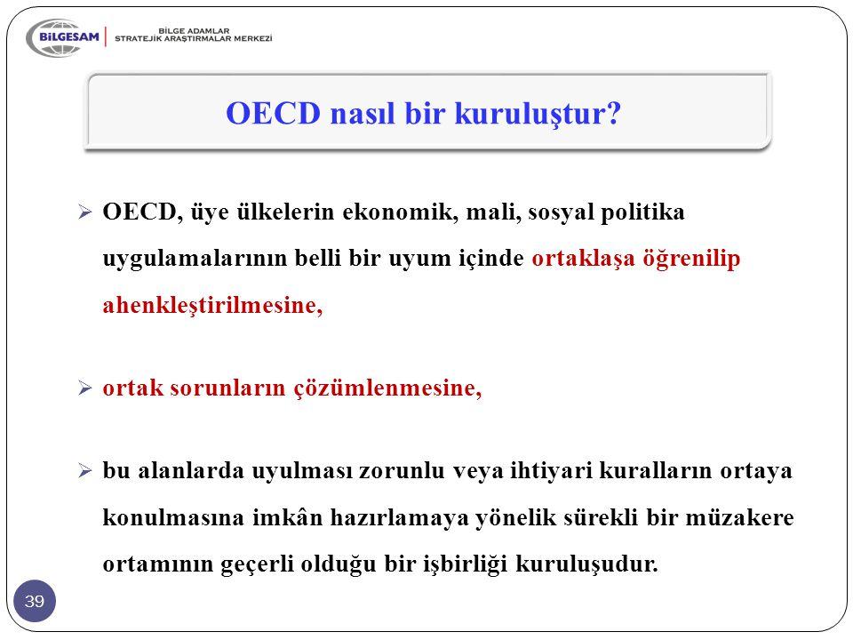 OECD nasıl bir kuruluştur