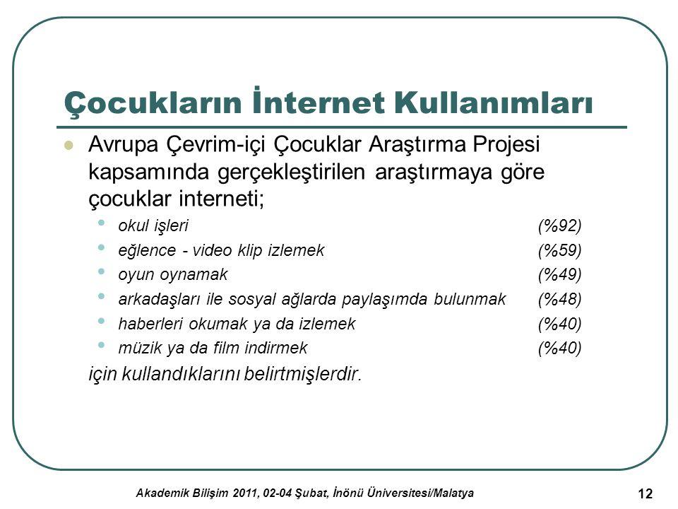 Çocukların İnternet Kullanımları