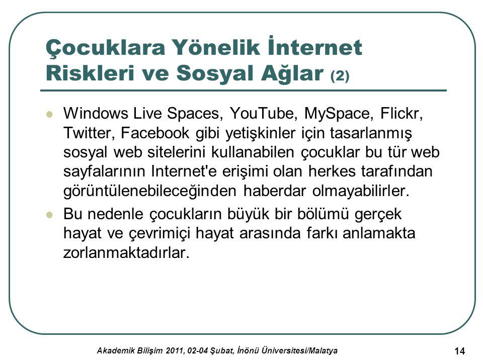 Çocuklara Yönelik İnternet Riskleri ve Sosyal Ağlar (2)