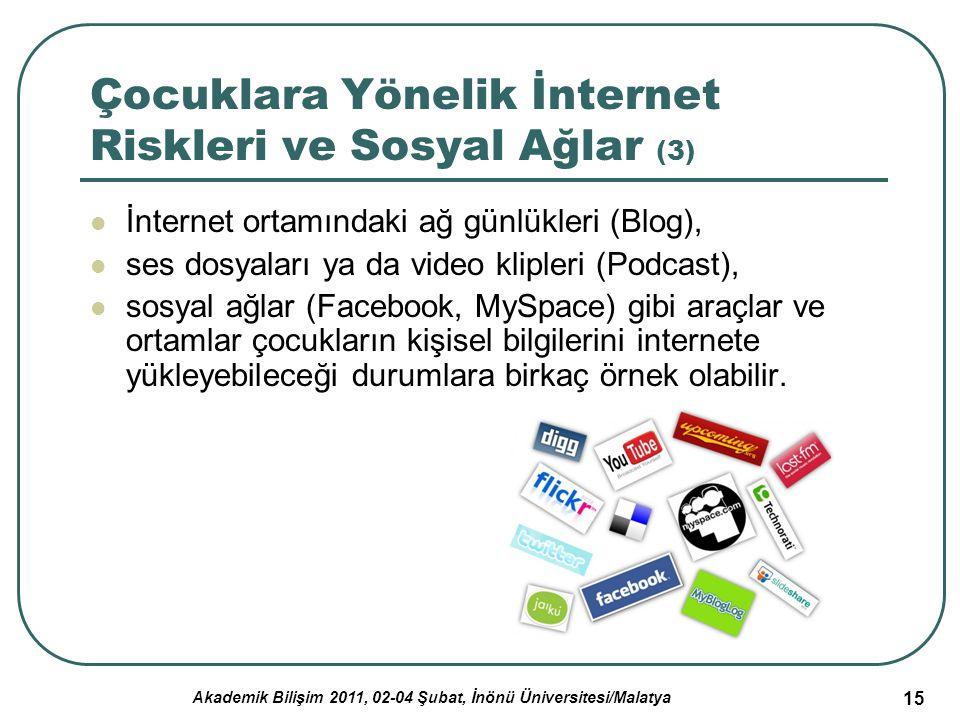 Çocuklara Yönelik İnternet Riskleri ve Sosyal Ağlar (3)