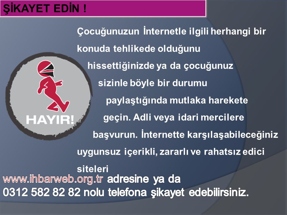 www.ihbarweb.org.tr adresine ya da