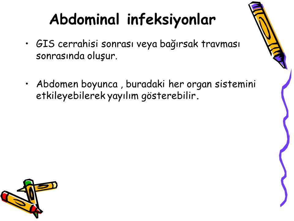 Abdominal infeksiyonlar