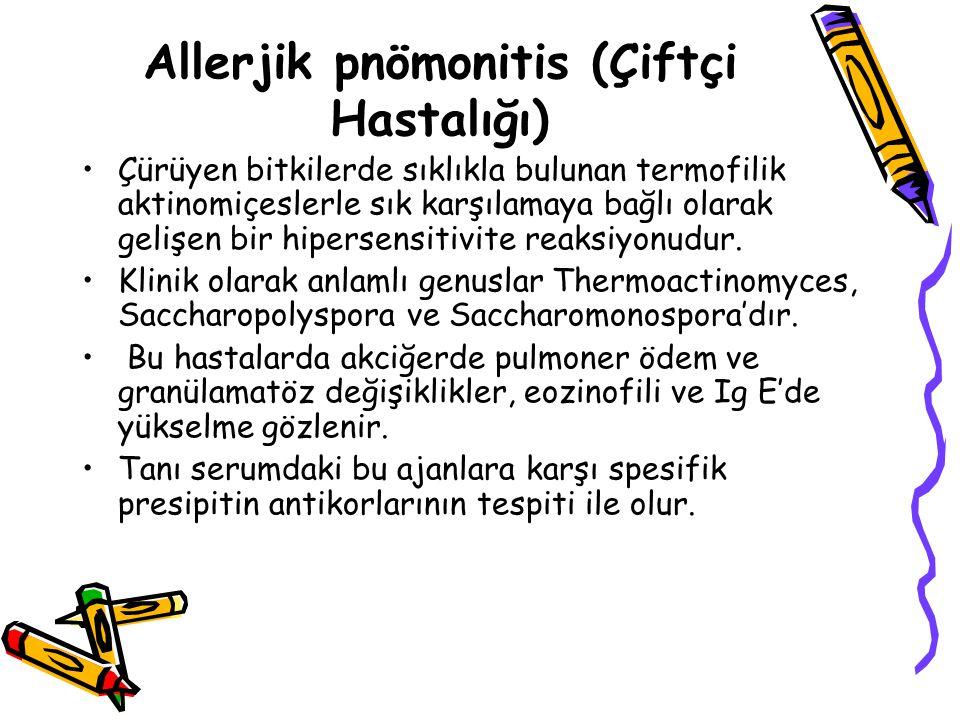 Allerjik pnömonitis (Çiftçi Hastalığı)
