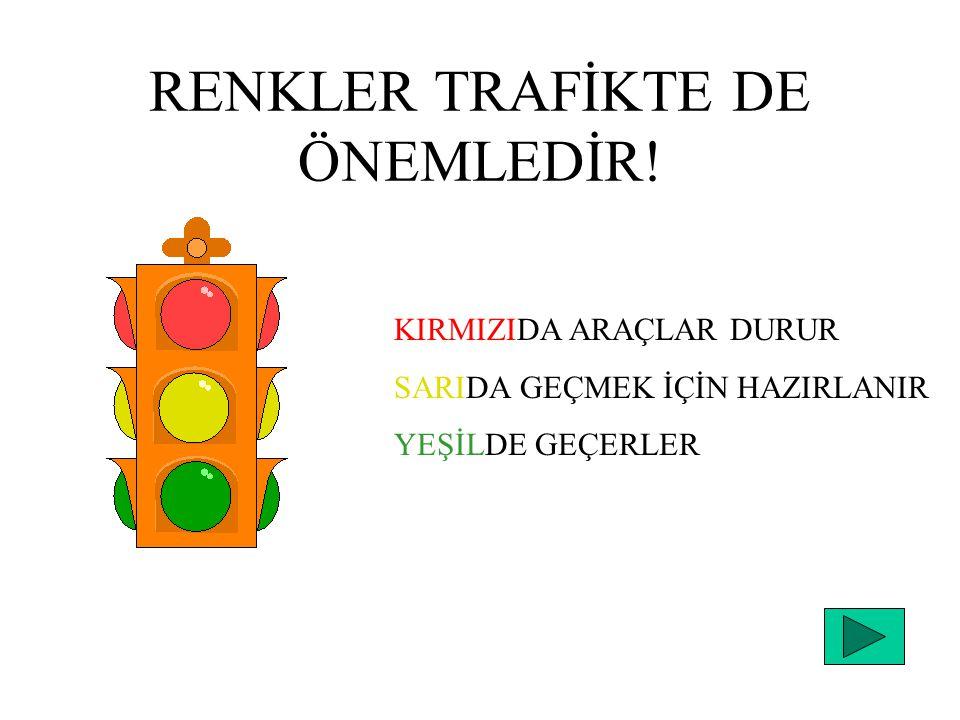 RENKLER TRAFİKTE DE ÖNEMLEDİR!