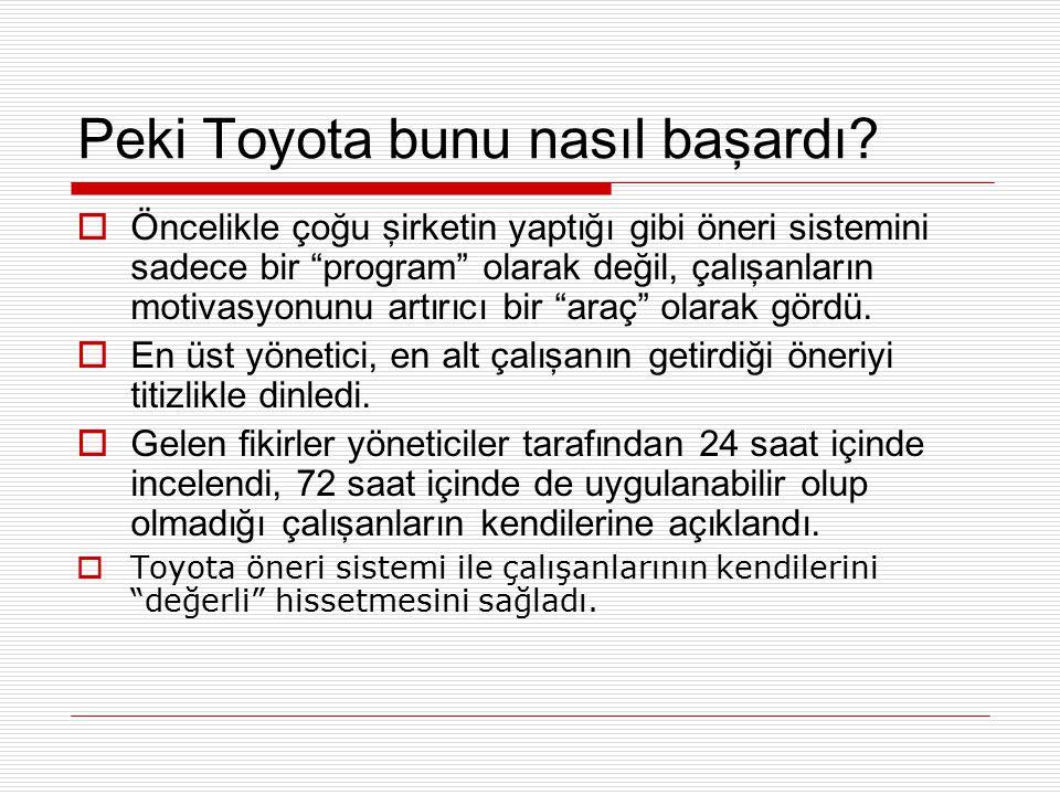 Peki Toyota bunu nasıl başardı