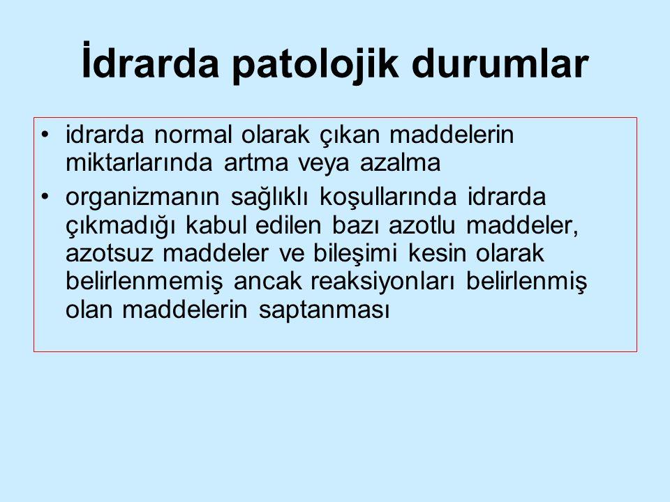 İdrarda patolojik durumlar