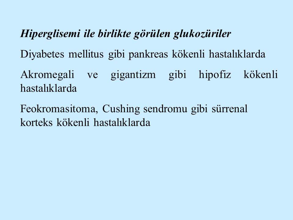 Hiperglisemi ile birlikte görülen glukozüriler