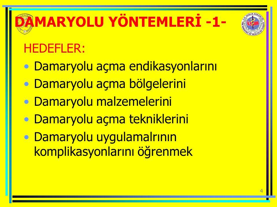 DAMARYOLU YÖNTEMLERİ -1-
