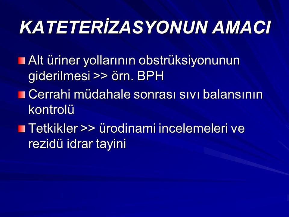 KATETERİZASYONUN AMACI