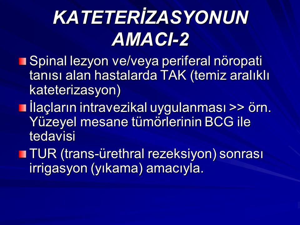 KATETERİZASYONUN AMACI-2