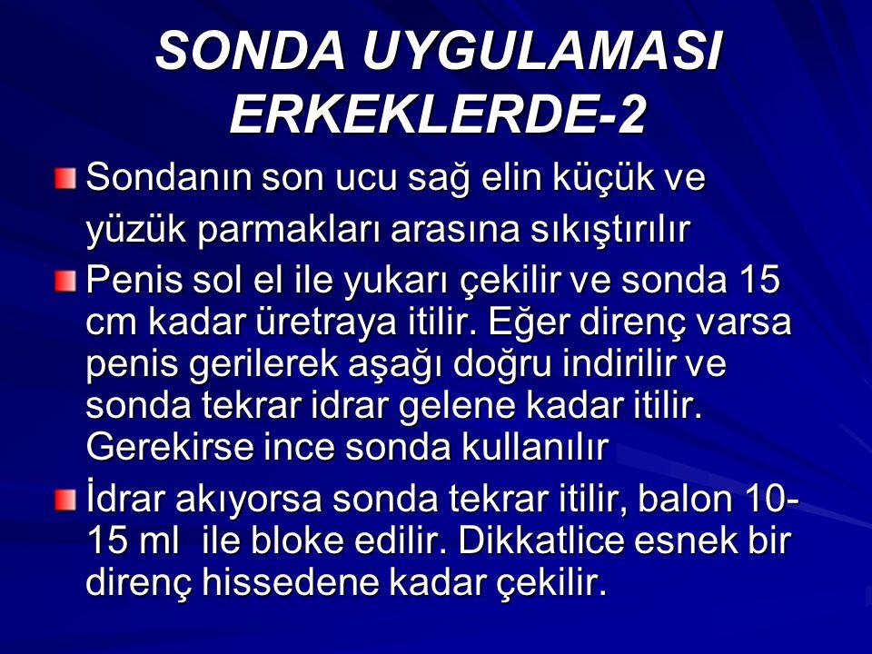 SONDA UYGULAMASI ERKEKLERDE-2