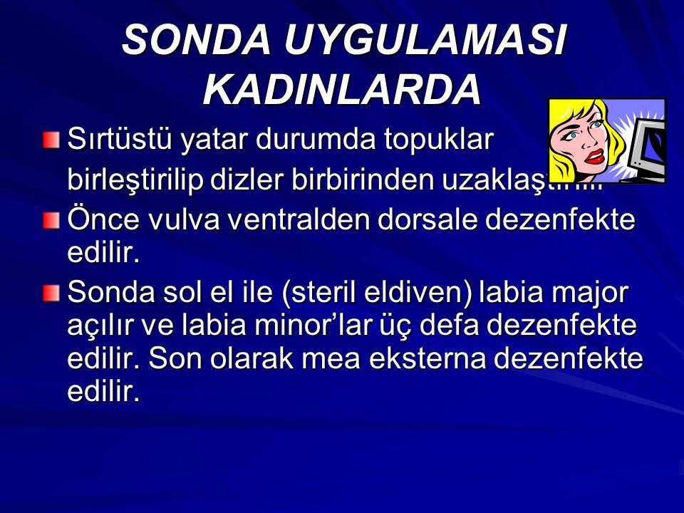 SONDA UYGULAMASI KADINLARDA
