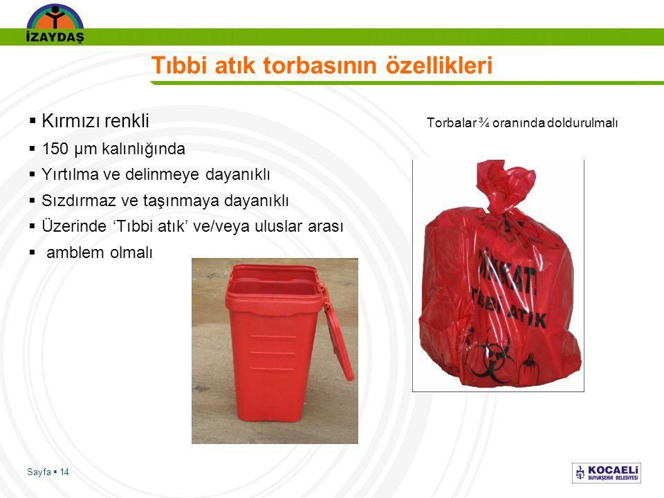 Tıbbi atık torbasının özellikleri