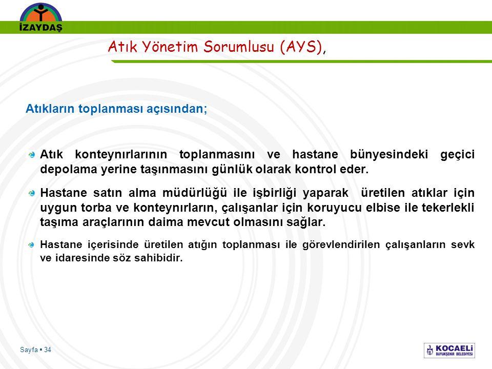 Atık Yönetim Sorumlusu (AYS),