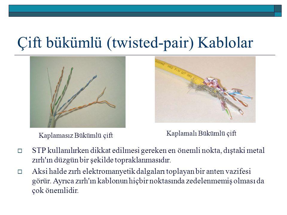 Çift bükümlü (twisted-pair) Kablolar