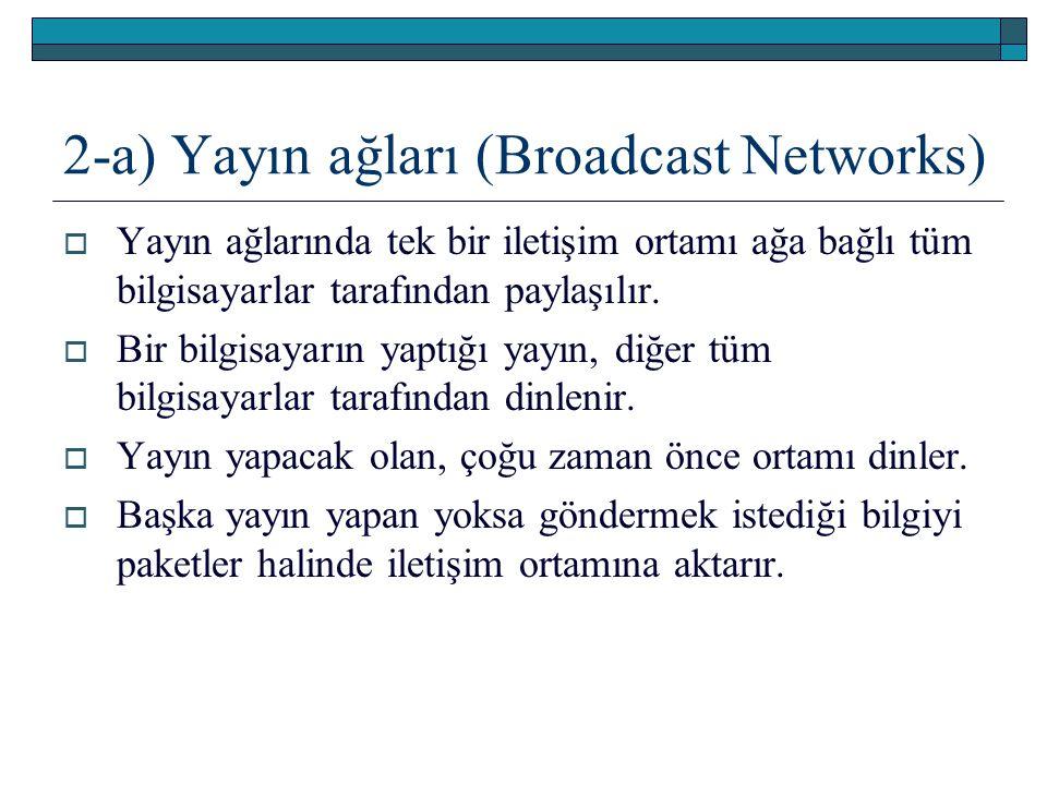 2-a) Yayın ağları (Broadcast Networks)