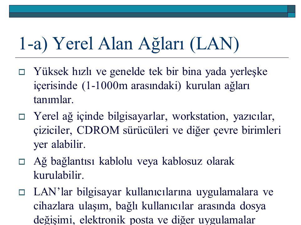1-a) Yerel Alan Ağları (LAN)