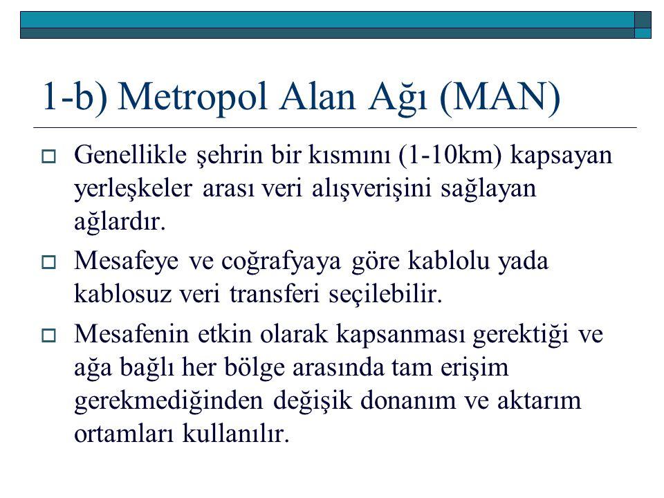 1-b) Metropol Alan Ağı (MAN)