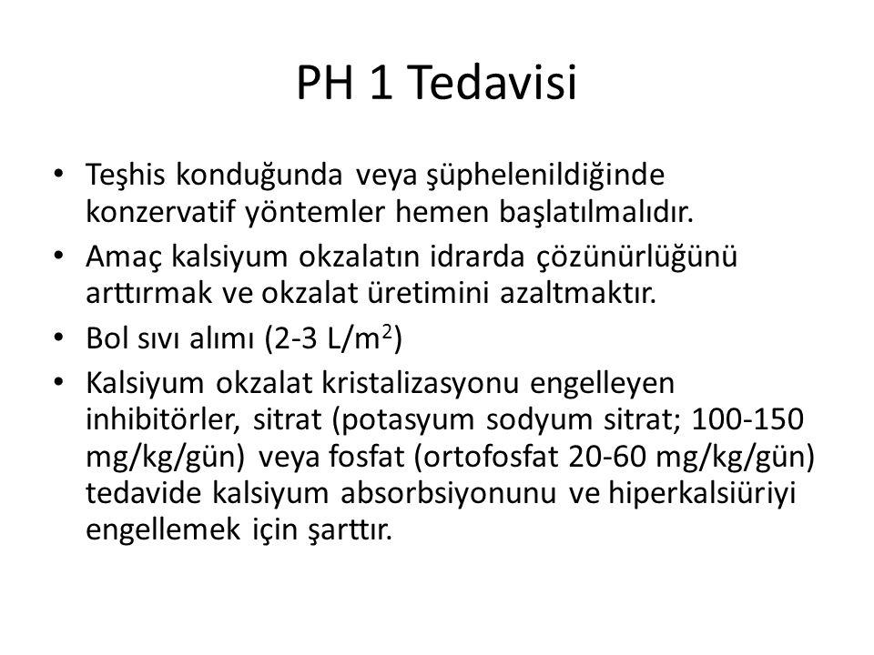 PH 1 Tedavisi Teşhis konduğunda veya şüphelenildiğinde konzervatif yöntemler hemen başlatılmalıdır.