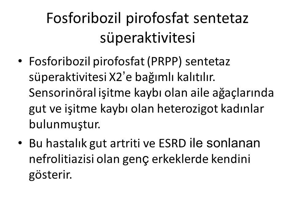 Fosforibozil pirofosfat sentetaz süperaktivitesi