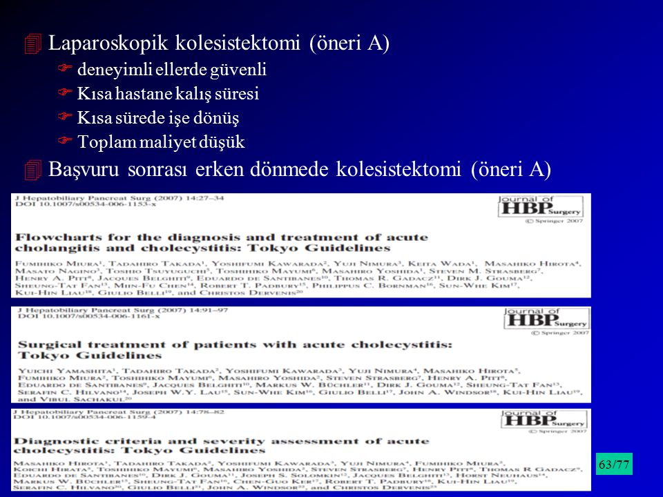 Laparoskopik kolesistektomi (öneri A)