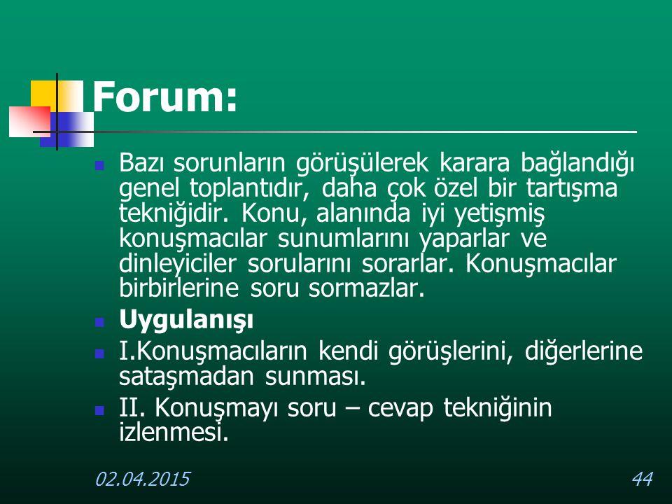 Forum: