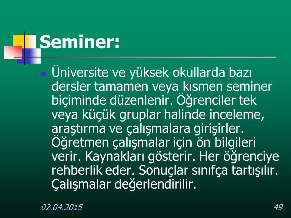 Seminer: