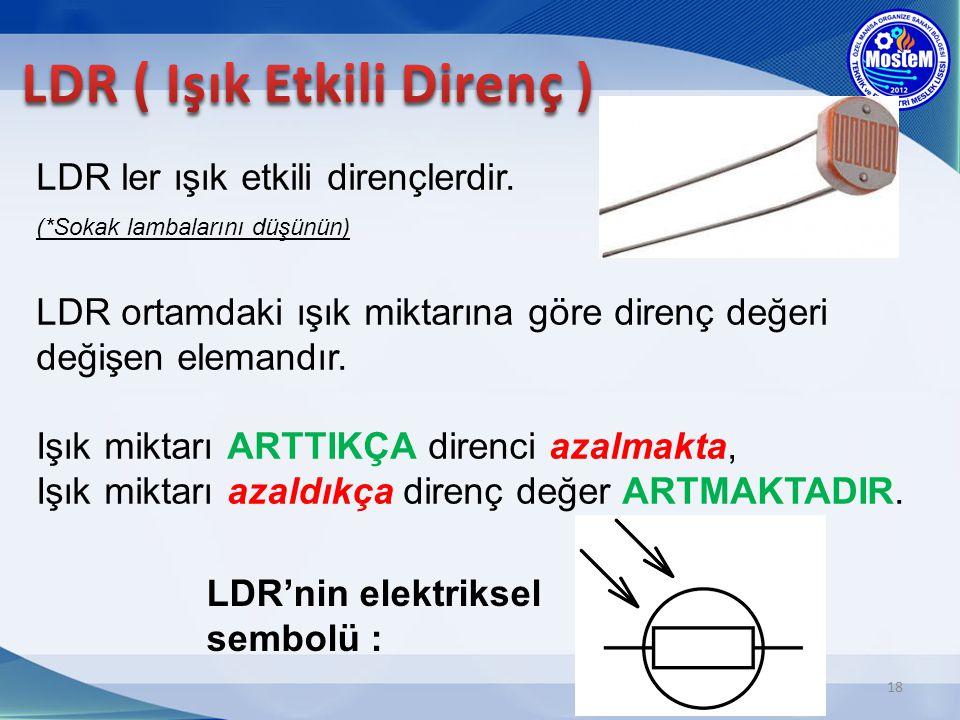 LDR ( Işık Etkili Direnç )