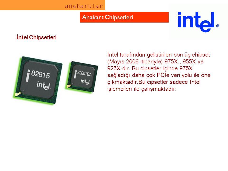 anakartlar Anakart Chipsetleri İntel Chipsetleri