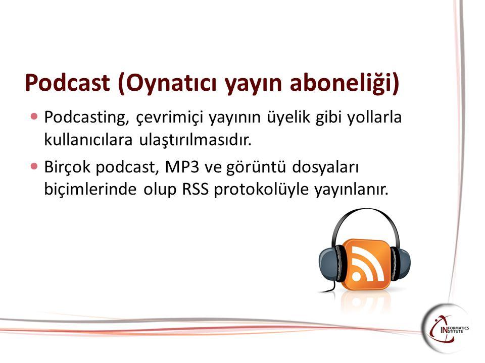 Podcast (Oynatıcı yayın aboneliği)