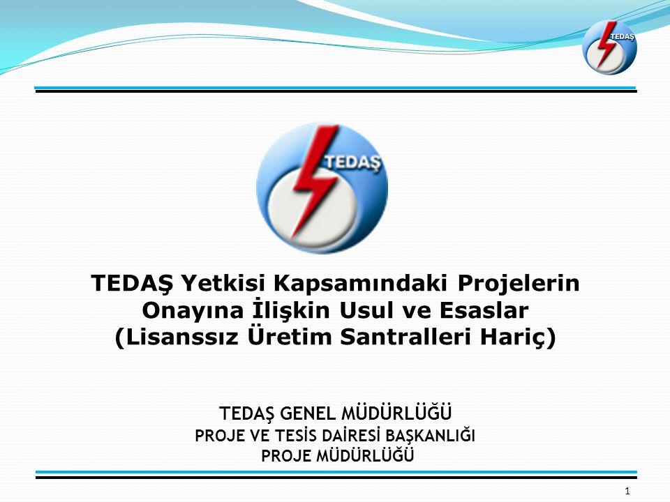 TEDAŞ Yetkisi Kapsamındaki Projelerin Onayına İlişkin Usul ve Esaslar