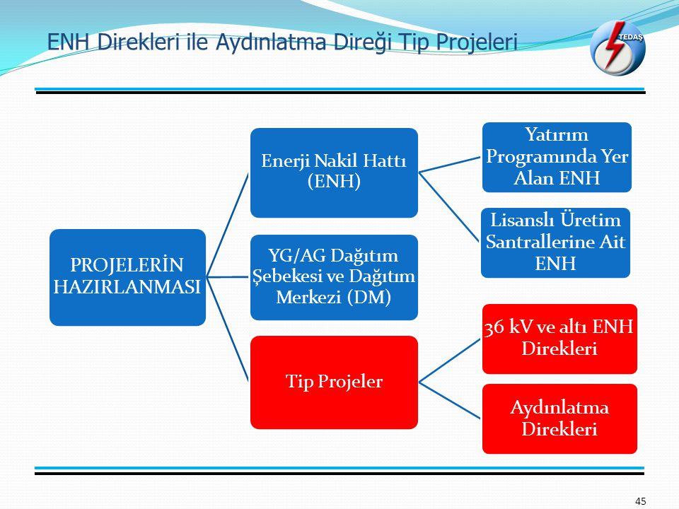 ENH Direkleri ile Aydınlatma Direği Tip Projeleri