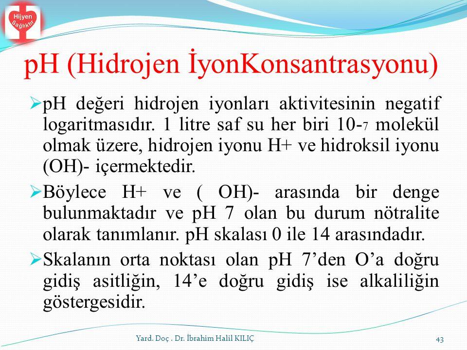 pH (Hidrojen İyonKonsantrasyonu)