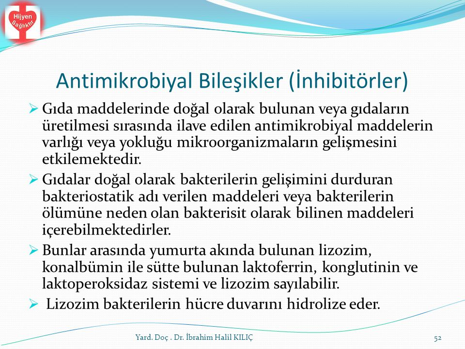 Antimikrobiyal Bileşikler (İnhibitörler)