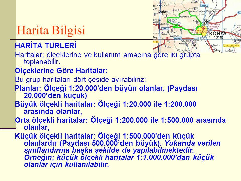 Harita Bilgisi HARİTA TÜRLERİ