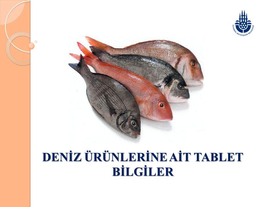 DENİZ ÜRÜNLERİNE AİT TABLET BİLGİLER