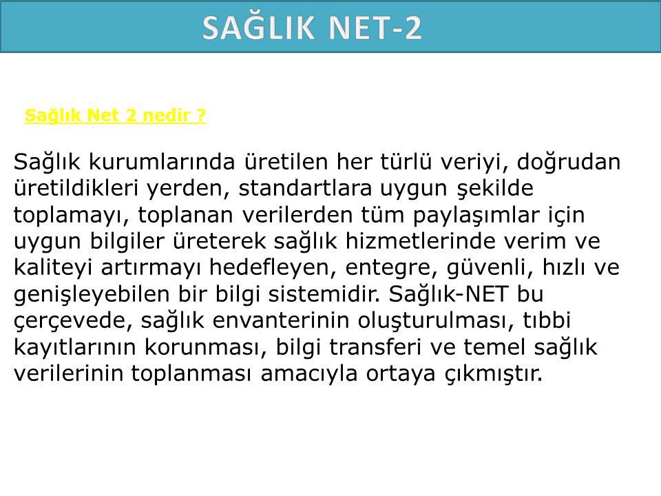 SAĞLIK NET-2 Sağlık Net 2 nedir
