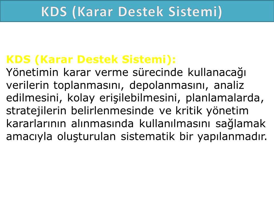 KDS (Karar Destek Sistemi)