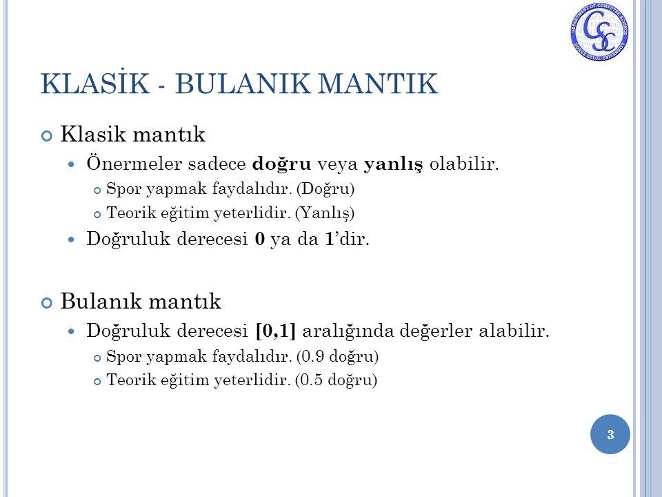 KLASİK - BULANIK MANTIK