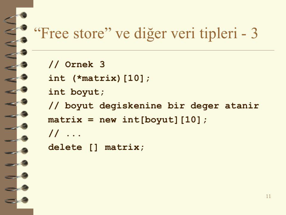 Free store ve diğer veri tipleri - 3