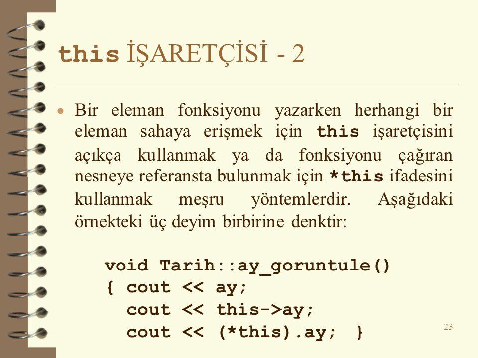 this İŞARETÇİSİ - 2
