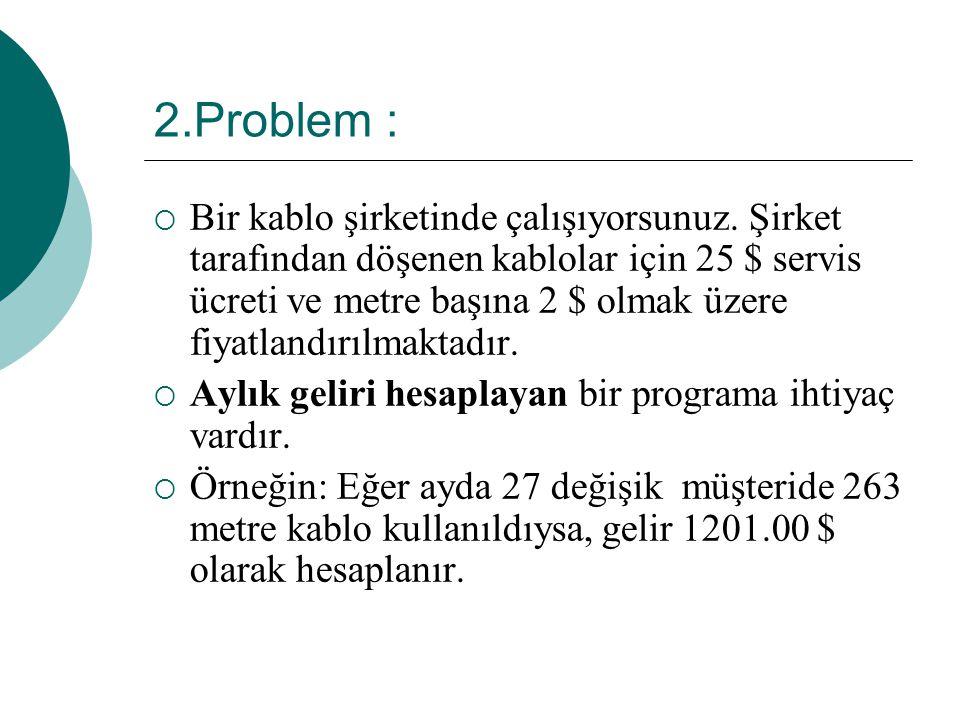 2.Problem :